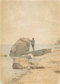 angler am genfersee by francois-louis-david bocion