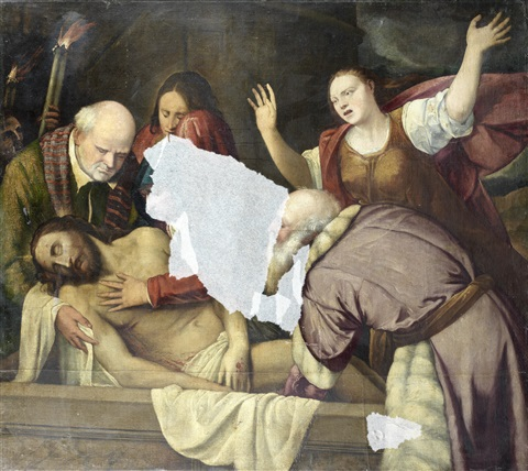 the entombment by romanino girolamo romani