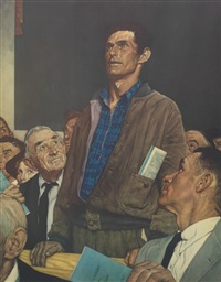 freedom of speech by norman rockwell
