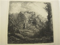 la ferme sur la colline (+ 2 others, irgr; 3 works) by alphonse legros