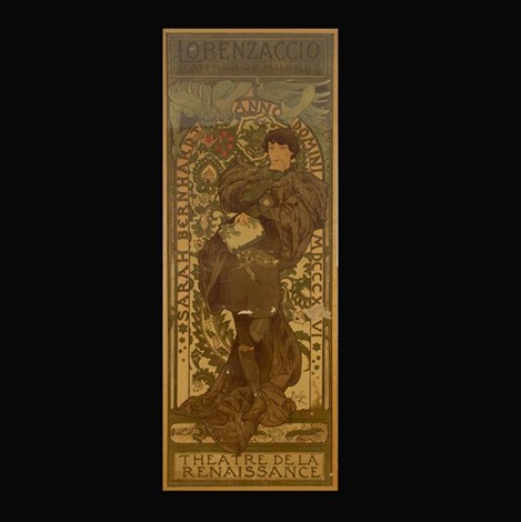 lorenzaccio italian advertisement by alphonse mucha