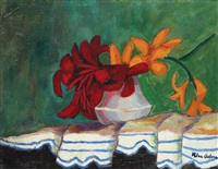 vase with lilies by nina arbore