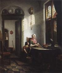 a kitchen scene by elisabeth alida van haanen