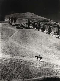 italiaans landschap (+ duiven; 2 works) by sem presser