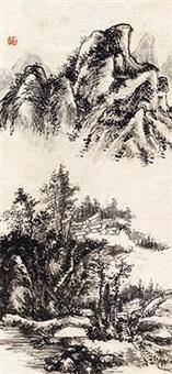 秋山幽居 by huang binhong