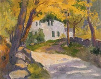 silvermine river road, our old house by bernhard gutmann