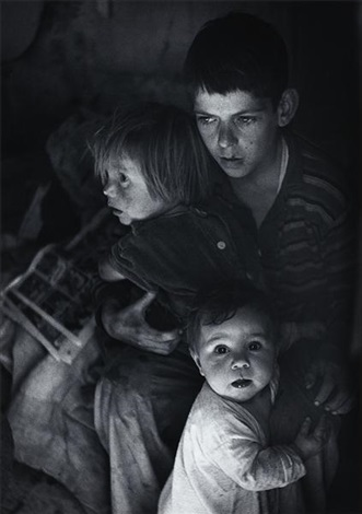 trailer camp children, richmond, california by ansel adams