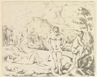 large bathers by paul cézanne