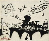 der nachtexpress (the night express) by lyonel feininger
