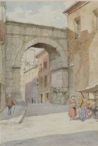 market at the city gate by giulio rosati