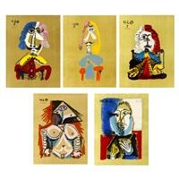 portraits imaginaires/imaginary portraits (5 works) by pablo picasso