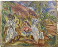 paysage cubain by jules pascin