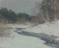 thawing brook (no. 3) by willard leroy metcalf