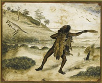 a pair of drawings of an aborigine by anonymous-australian (19)