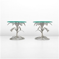 floriform side tables (pair) by arthur court