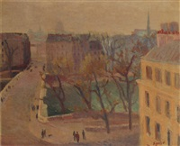 pont louis philippe, paris by edmond sigrist