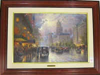 new york, fifth avenue by thomas kinkade
