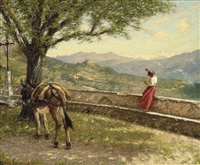 calling to the valley by henry herbert la thangue