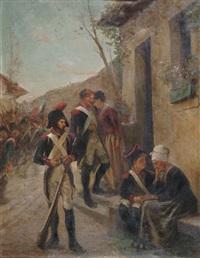 le départ du militaire by henri-charles-e. dujardin-beaumetz