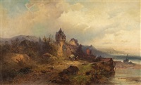 landscape from the rhine by nicolai von astudin