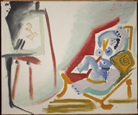 la peintre et son modele, 26 march by pablo picasso