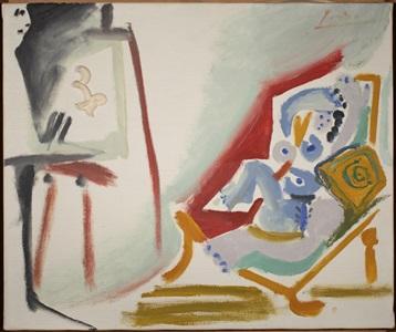 la peintre et son modele 26 march by pablo picasso