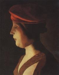 tête de femme: un fragment by georges de latour