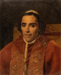portrait du pape pie vii by jacques-louis david