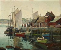 in the harbor by anthony thieme