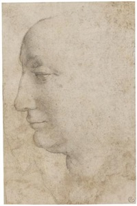 head of a woman seen in profile, looking to the left by agnolo bronzino