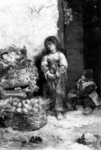 die kleine obstverkäuferin by antonio amorós botella