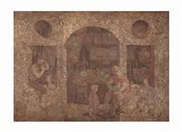 la taverne (triptych) by domenico gnoli