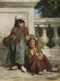 deux mendiants by charles victor thirion