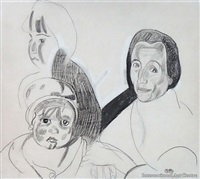 woman with children by frances mary hodgkins