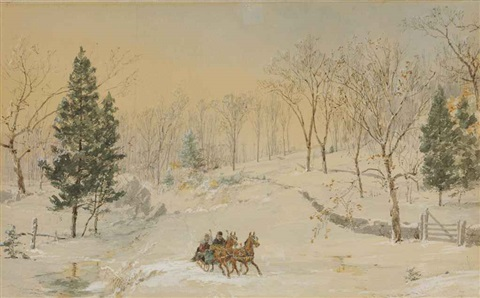winter, ravensdale road by jasper francis cropsey