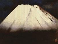 mount fuji in the spring snow by kato toichi