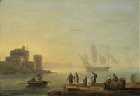 on the quayside by thomas luny