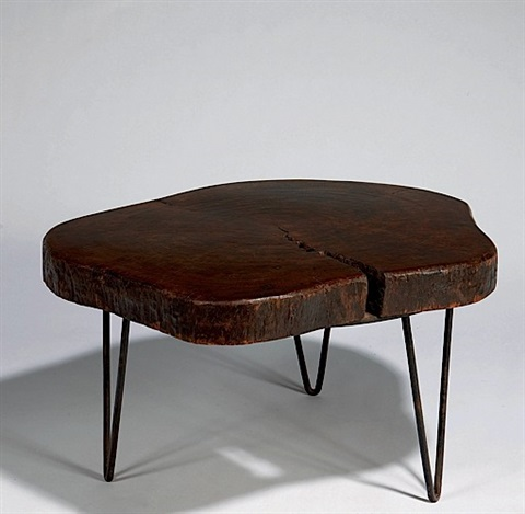 table basse tronc darbre by pierre jeanneret - Table Basse Tronc D Arbre