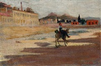 view of athens from pireaus avenue by alexandre kaloudis