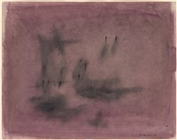 untitled (abstract composition in purple) by norman lewis