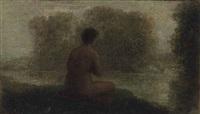 baigneuse au bord de l'eau by henri fantin-latour