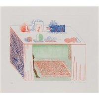 in a chiaroscuro, pl.9 from the blue guitar by david hockney