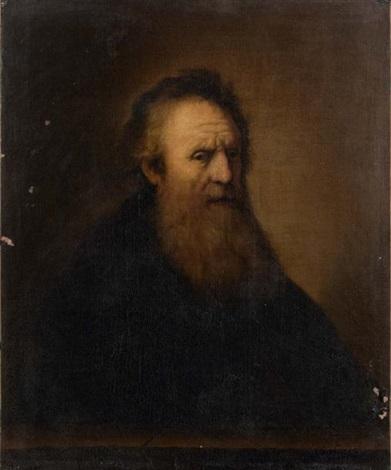 portrait dhomme barbu devant un parapet by rembrandt van rijn