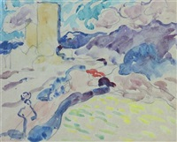 landscape with figure by louis valtat