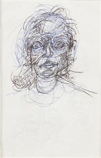 tête de femme et quatre têtes d homme (recto-verso) by alberto giacometti