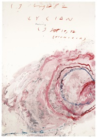 lycian drawing (niphidia) by cy twombly
