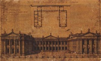 design for a publick building at cambridge by hendrick hulsbergh