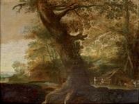 le gros chêne près de l'appentis by alexander keirincx