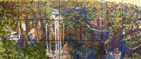waterfall (21 panels) by geoff la gerche