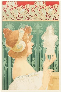 the sculptress by henri privat-livemont